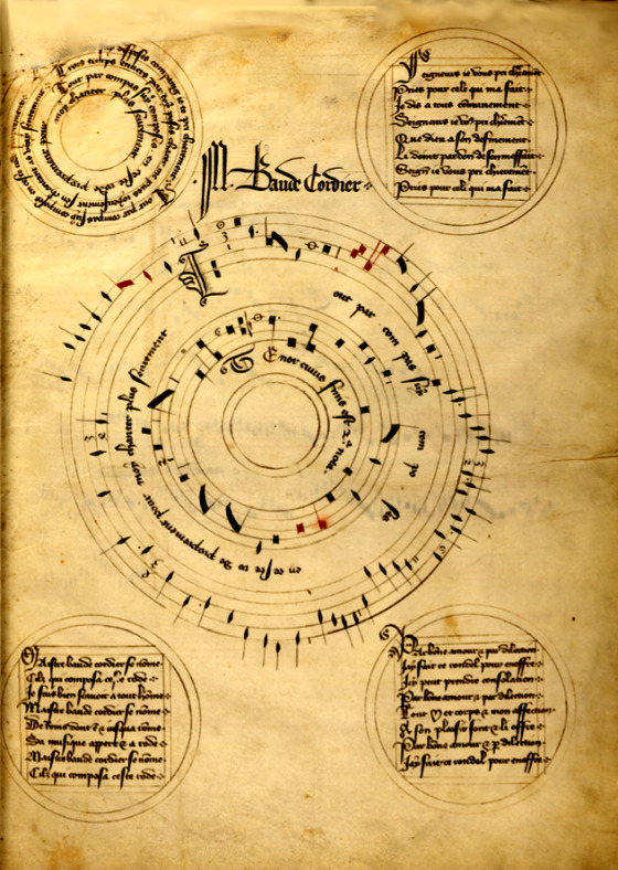 Baudier Ronde from the Codex Chantilly
