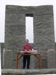William Playing the Glass Armonica at Stonehenge